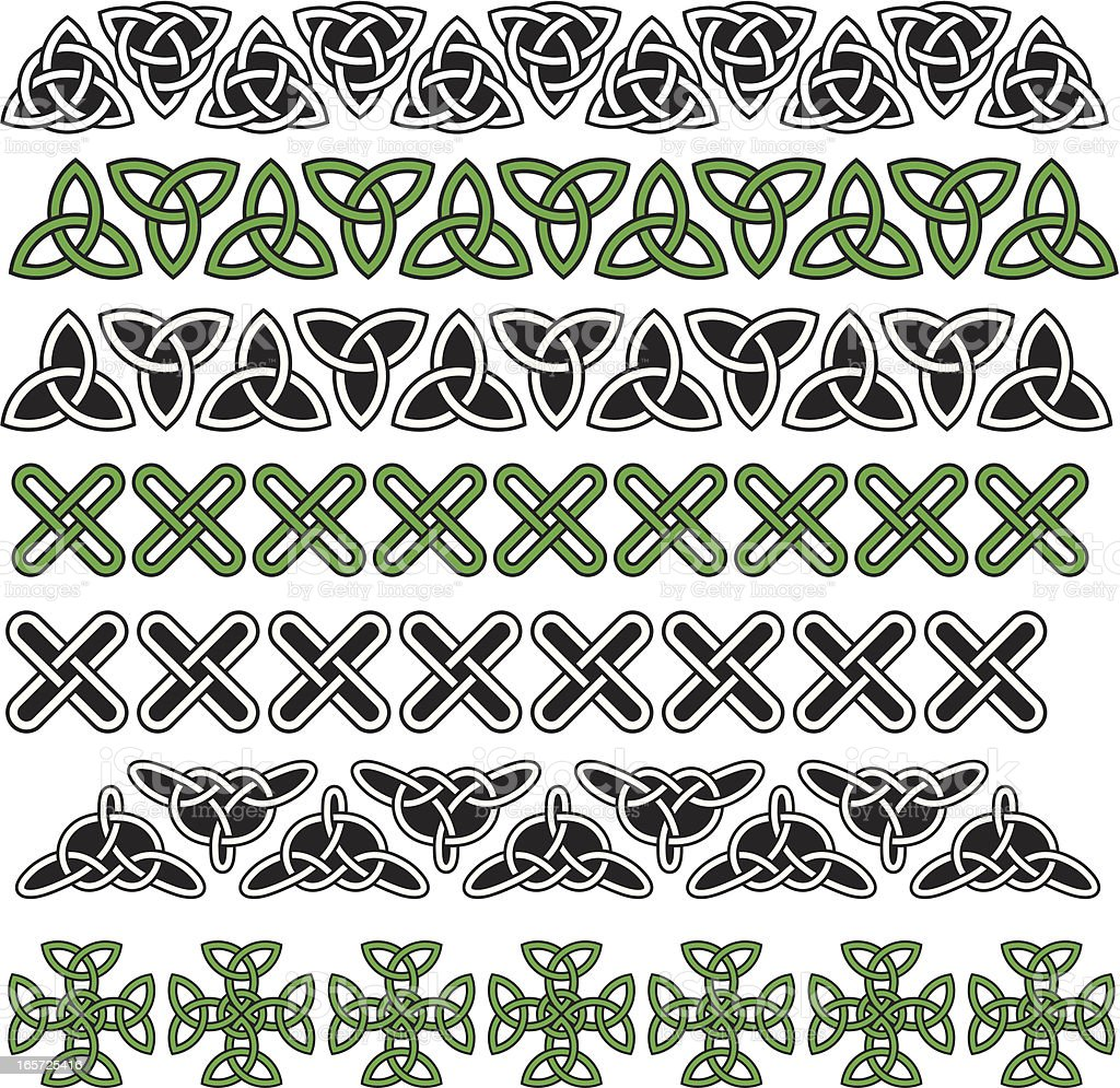 Celtic knots pattern royalty-free stock vector art