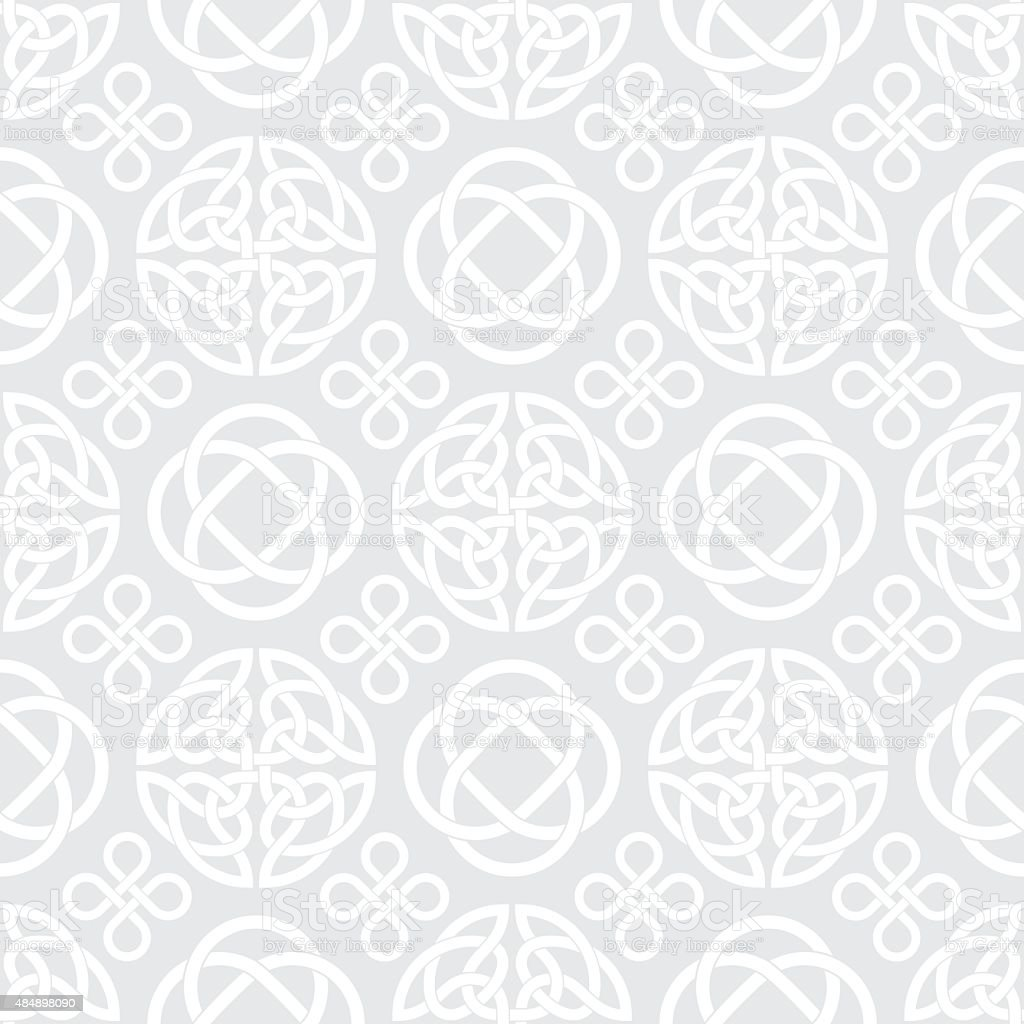 Celtic Knots Seamless pattern background vector art illustration