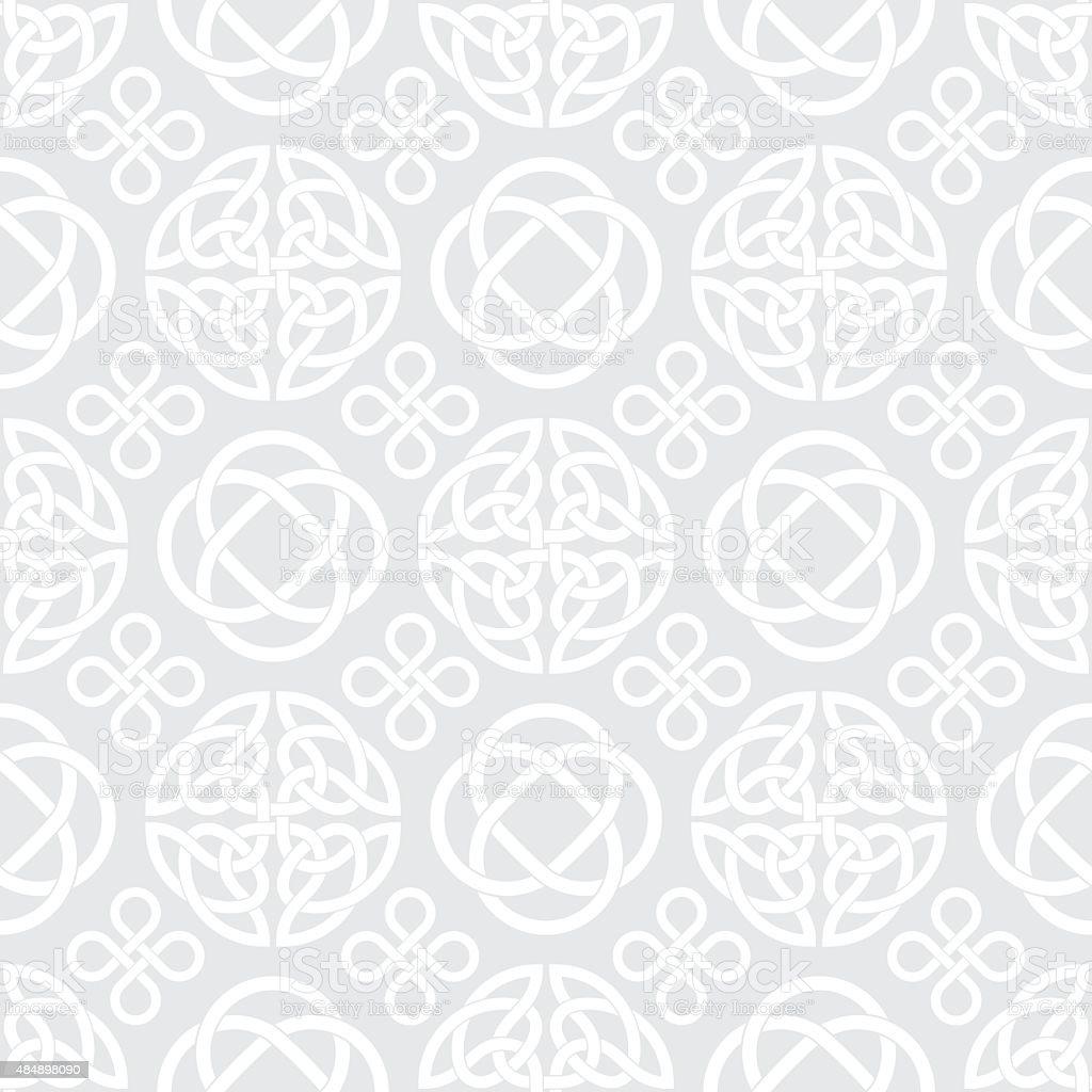 Celtic Knots Seamless pattern background vector art illustration