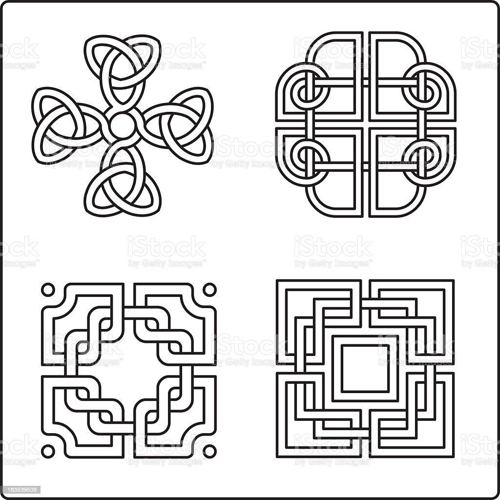 Celtic Knotwork 1 vector art illustration