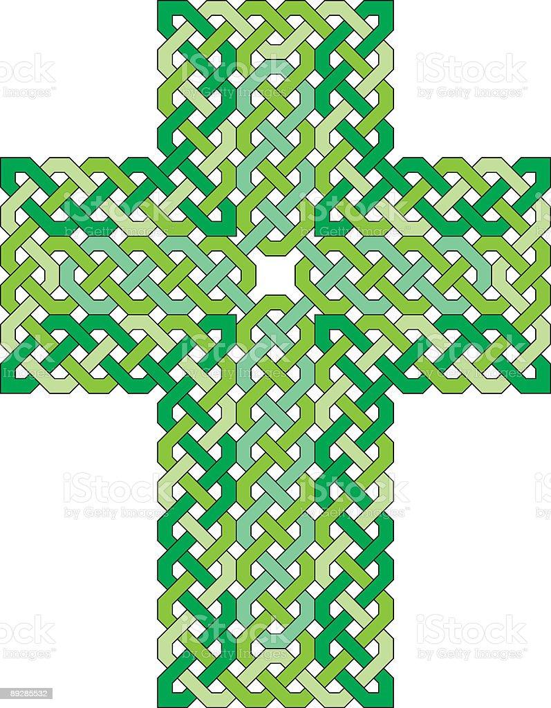 Celtic Knotwork Cross vector art illustration