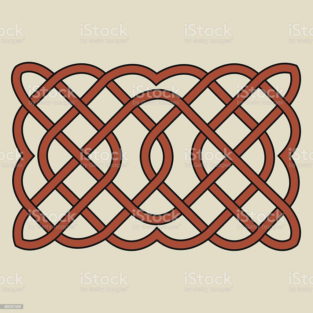 Celtic Knotwork Illustration royalty-free stock vector art