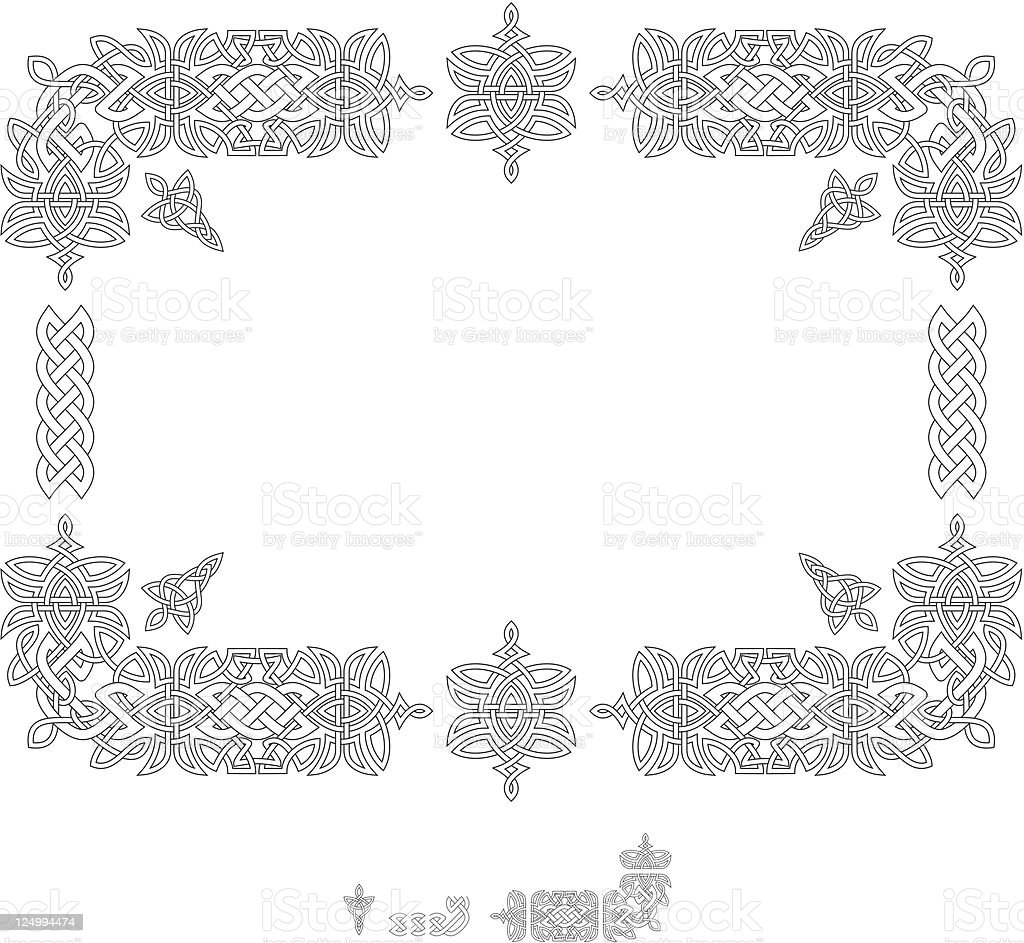 celtic knotwork. royalty-free stock vector art