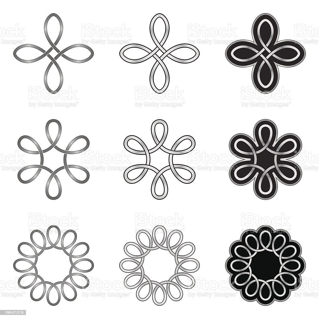 Celtic Loops Patterns and Templates royalty-free stock vector art
