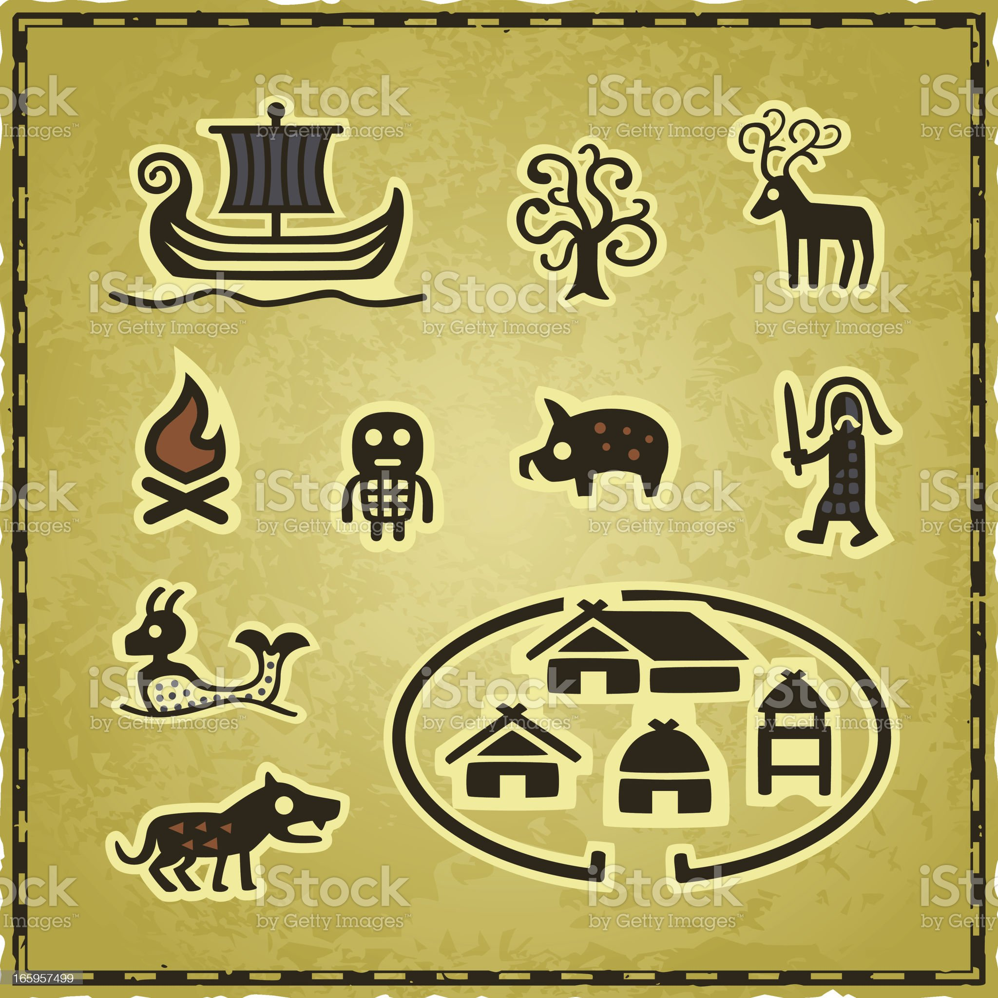 Celtic Map Icons royalty-free stock vector art