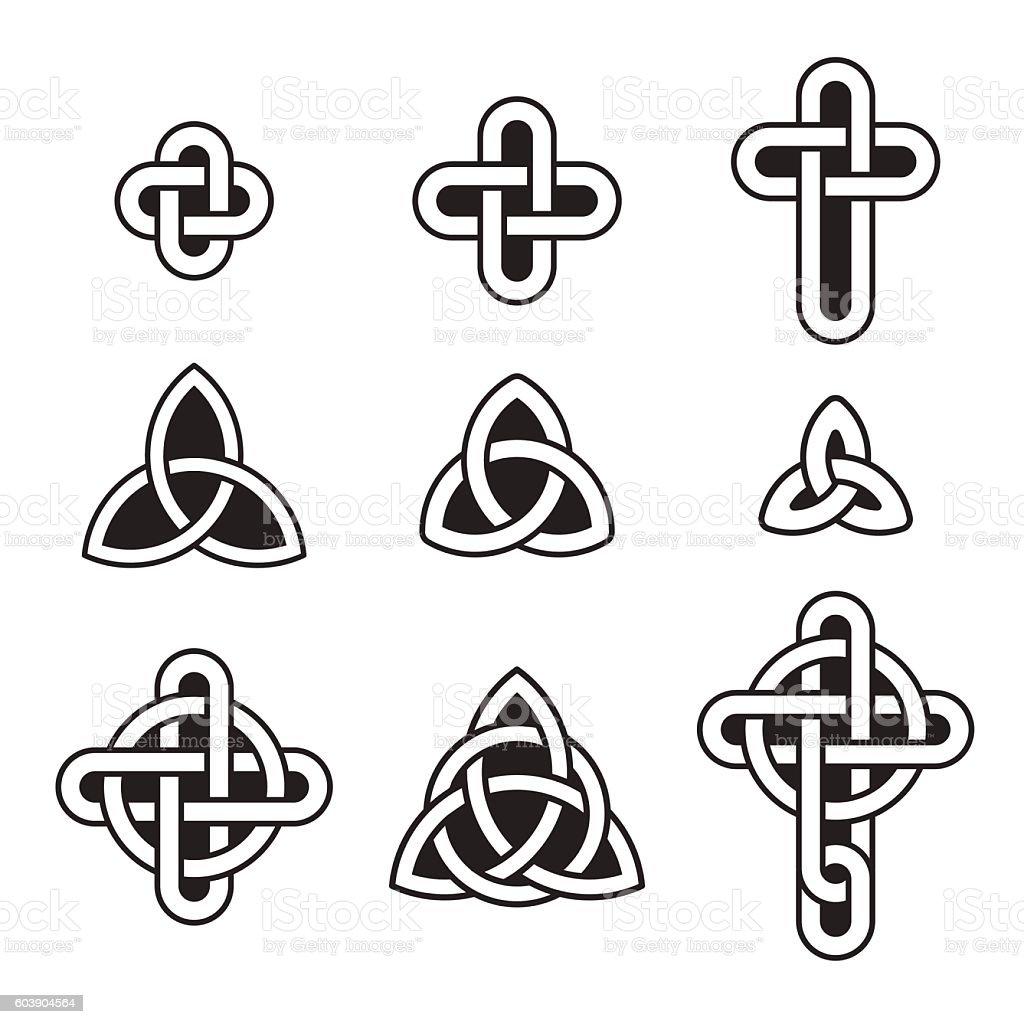 Celtic ornament set vector art illustration