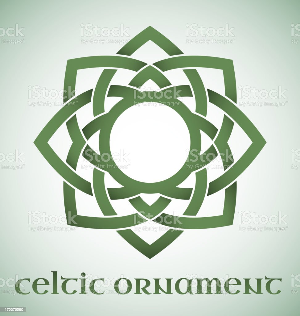 Celtic ornament with gradients vector art illustration
