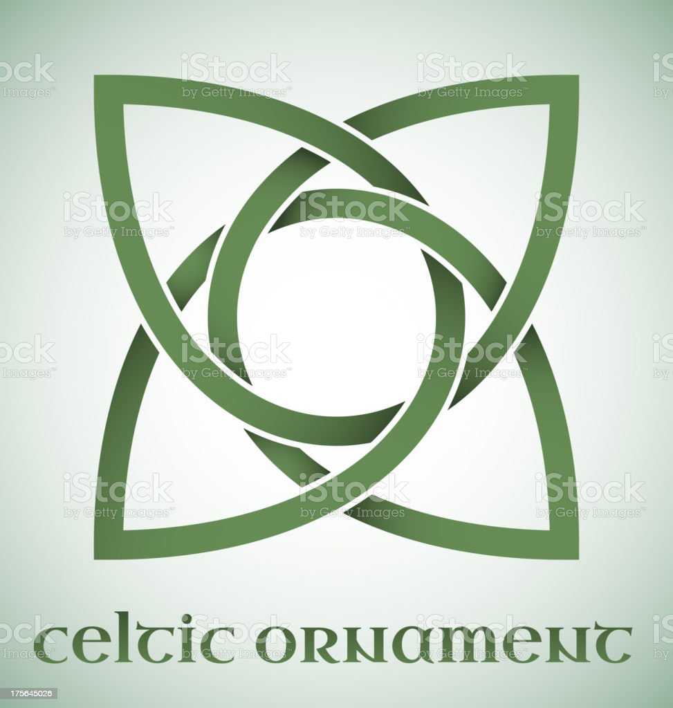 Celtic ornament with gradients royalty-free stock vector art