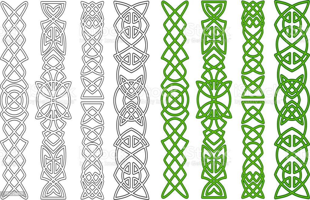 Celtic ornaments and patterns vector art illustration