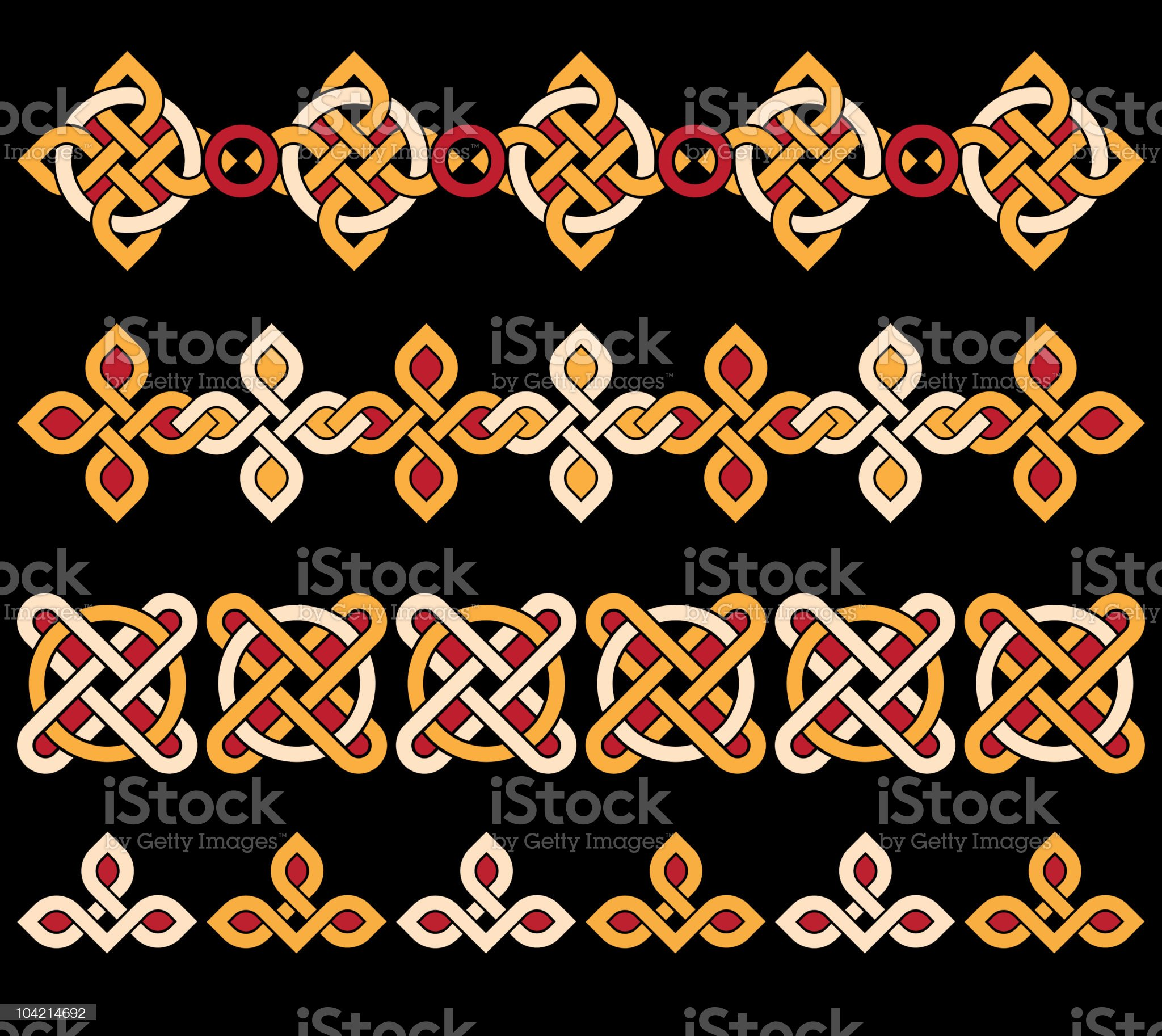 celtic ornaments royalty-free stock vector art