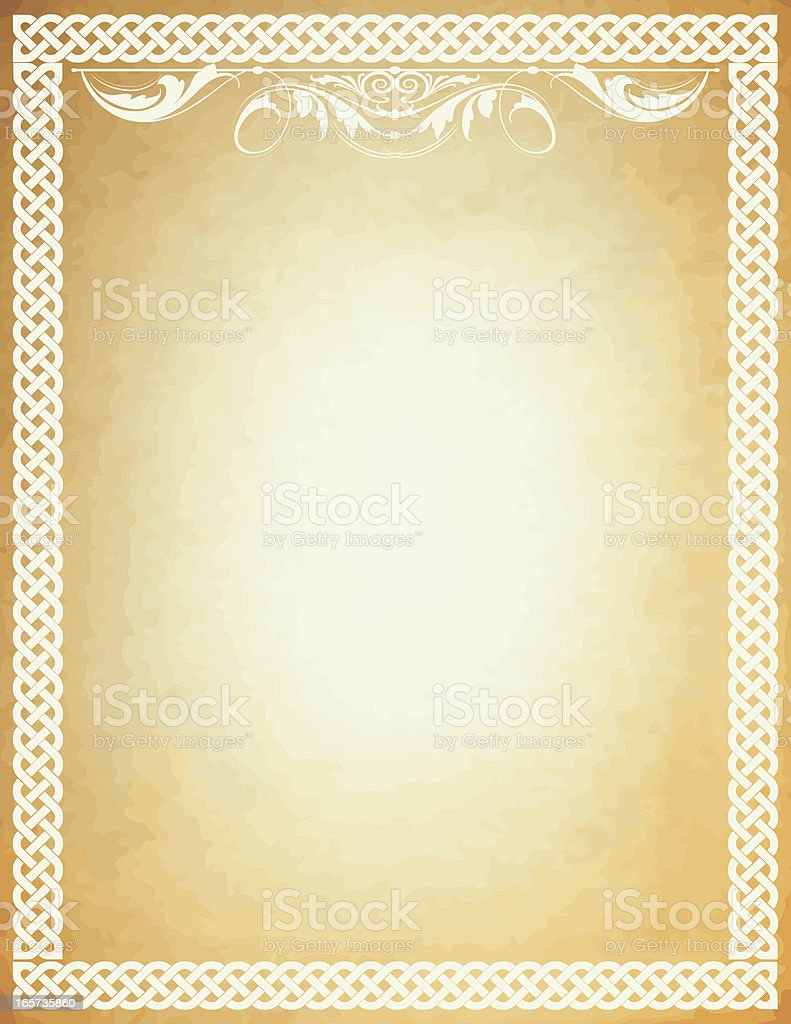 Celtic Parchment Header royalty-free stock vector art