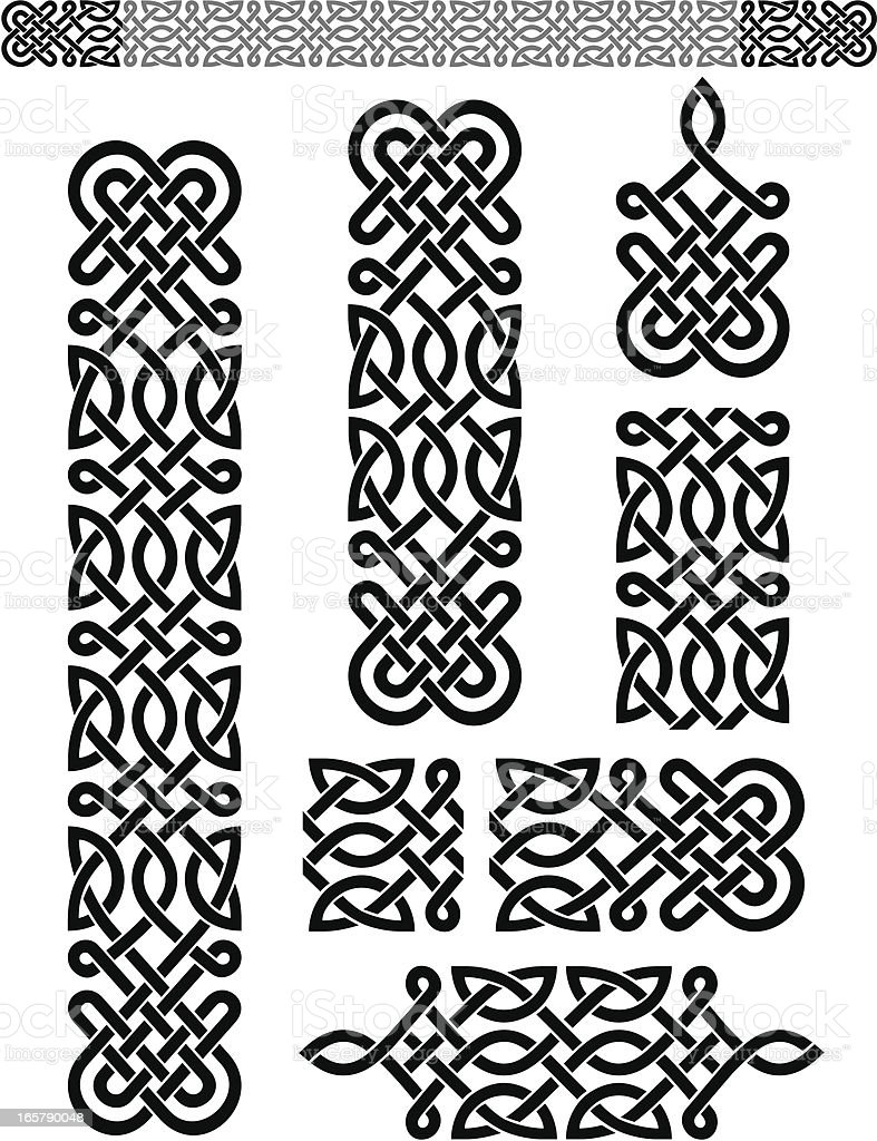 Celtic Pattern Set vector art illustration