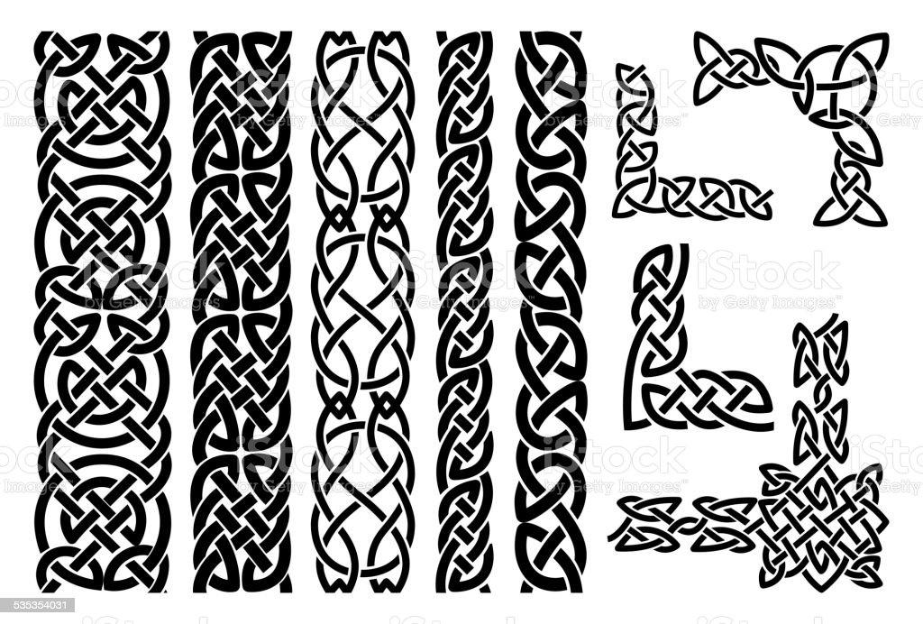 Bilderrahmen verzieren ornamente  Keltische Muster Und Keltisches Ornament Corners Vektor ...