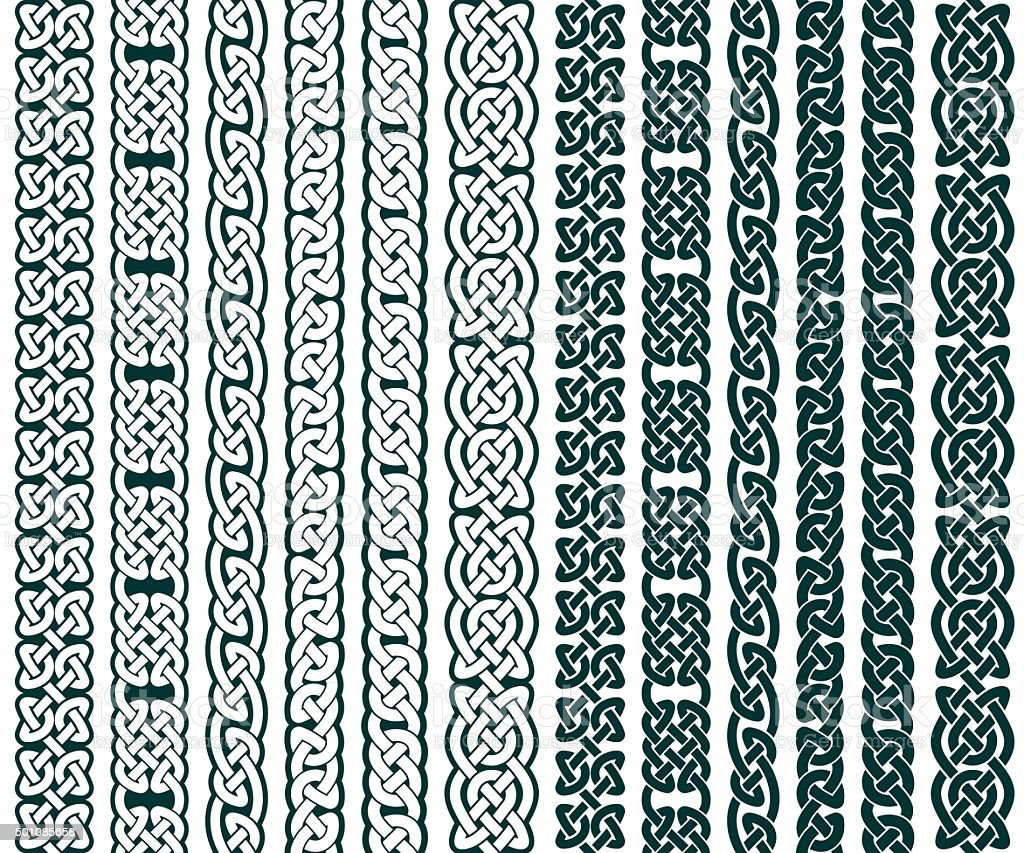 Celtic Patterns Collection vector art illustration