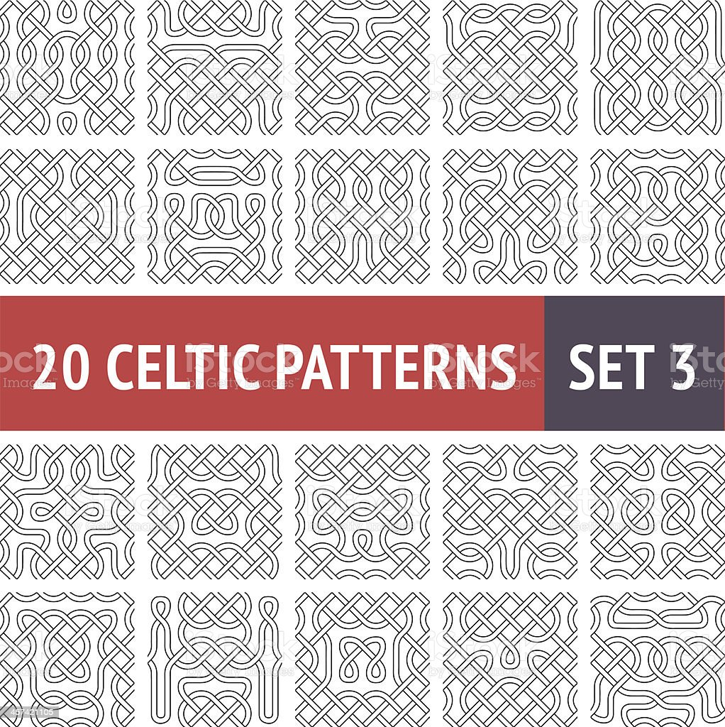 Celtic Patterns Set royalty-free stock vector art