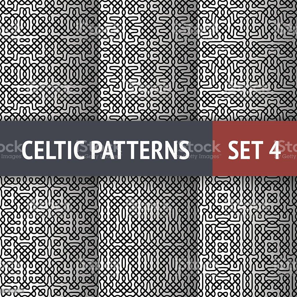 Celtic Patterns Set vector art illustration