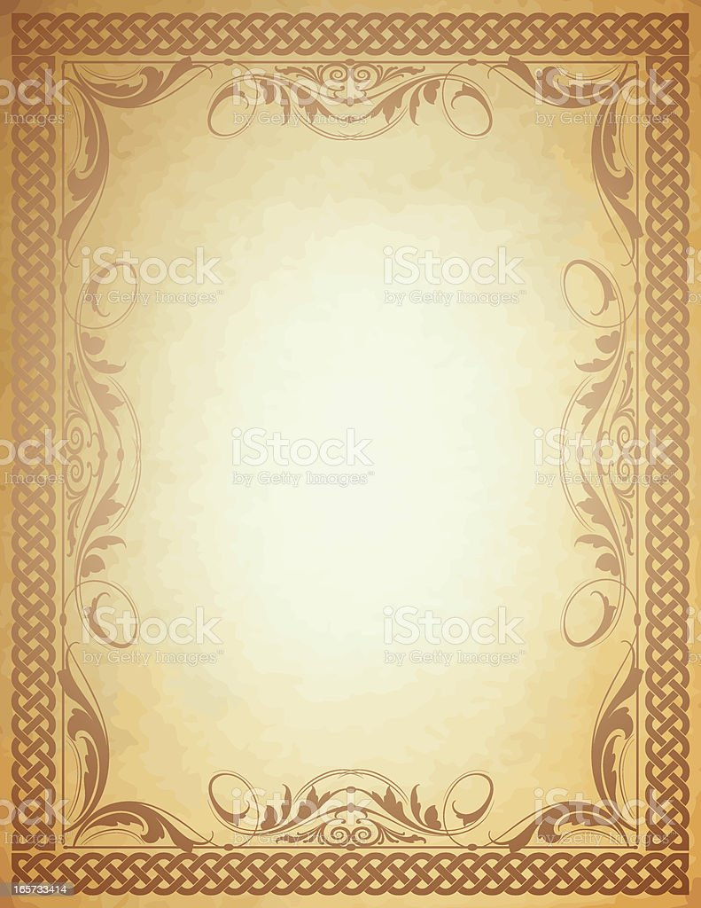 Celtic Scroll Border royalty-free stock vector art