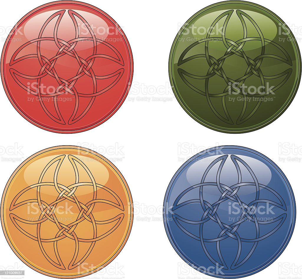 Celtic Shiny buttons royalty-free stock vector art