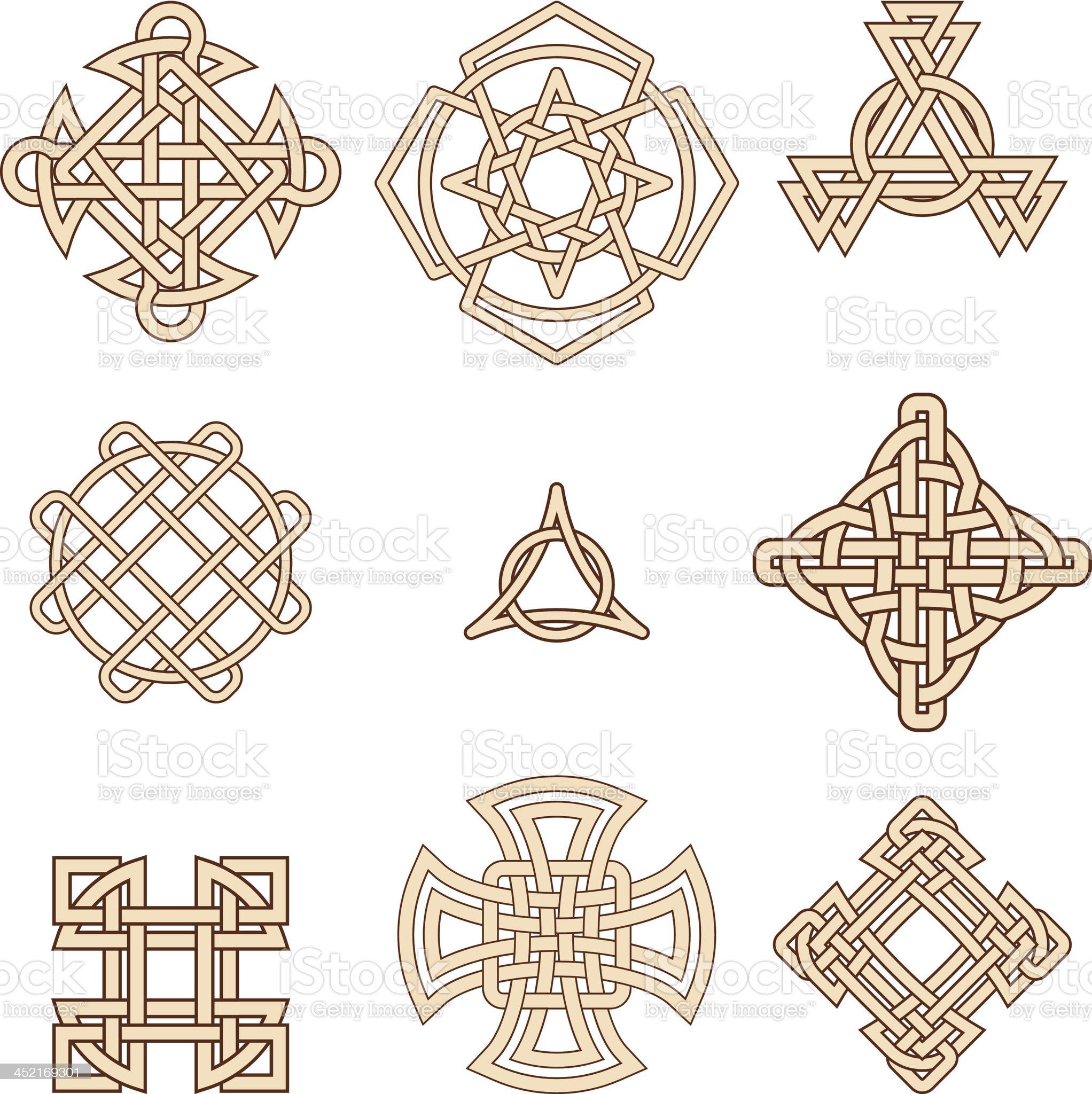 celtic symbols royalty-free stock vector art