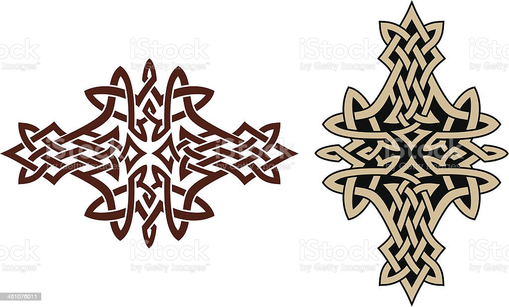 Celtic tattoo design royalty-free stock vector art