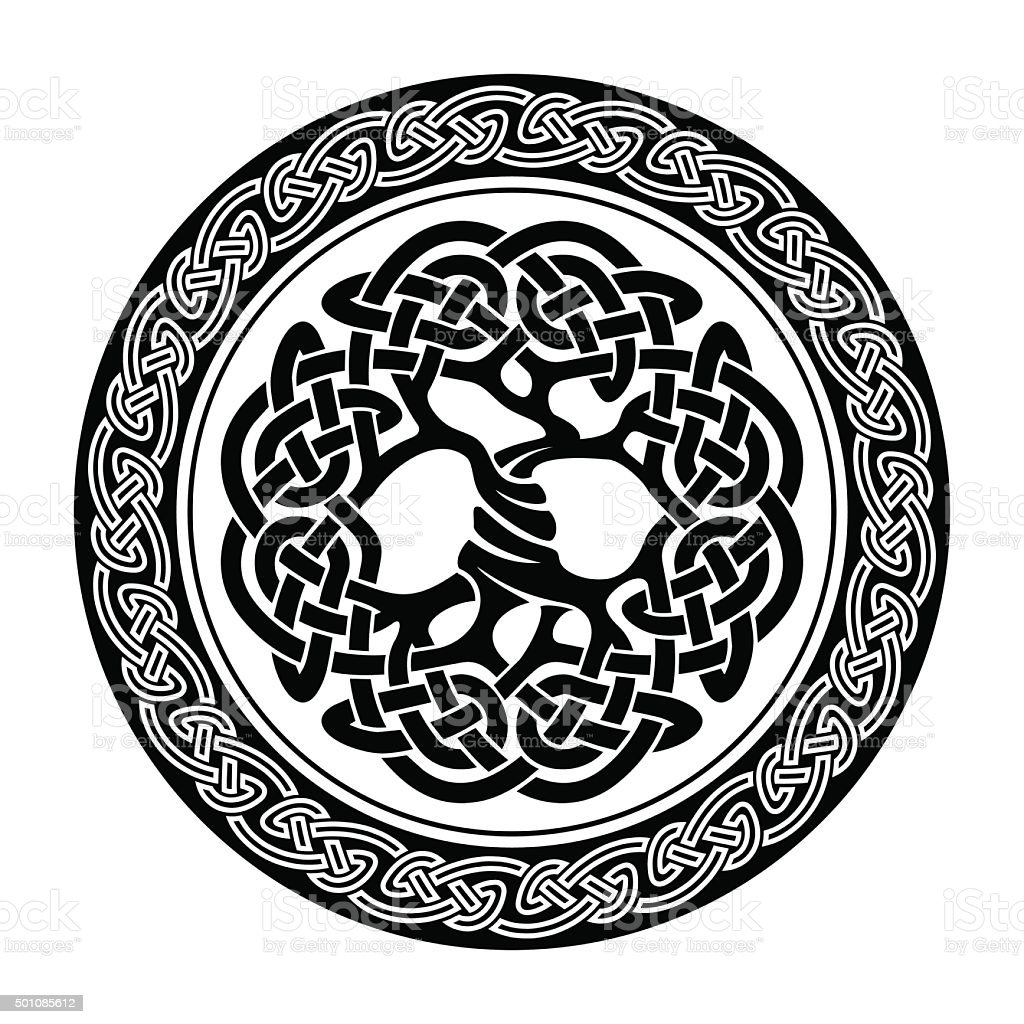 Celtic Tree of Life vector art illustration