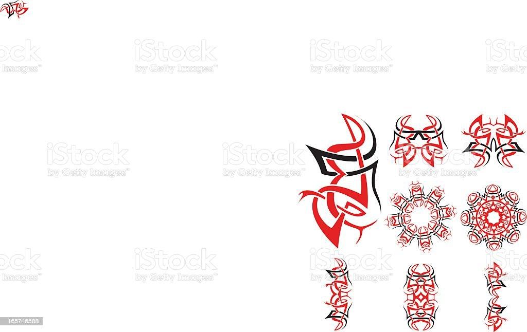 Celtic tribal knotworks set royalty-free stock vector art