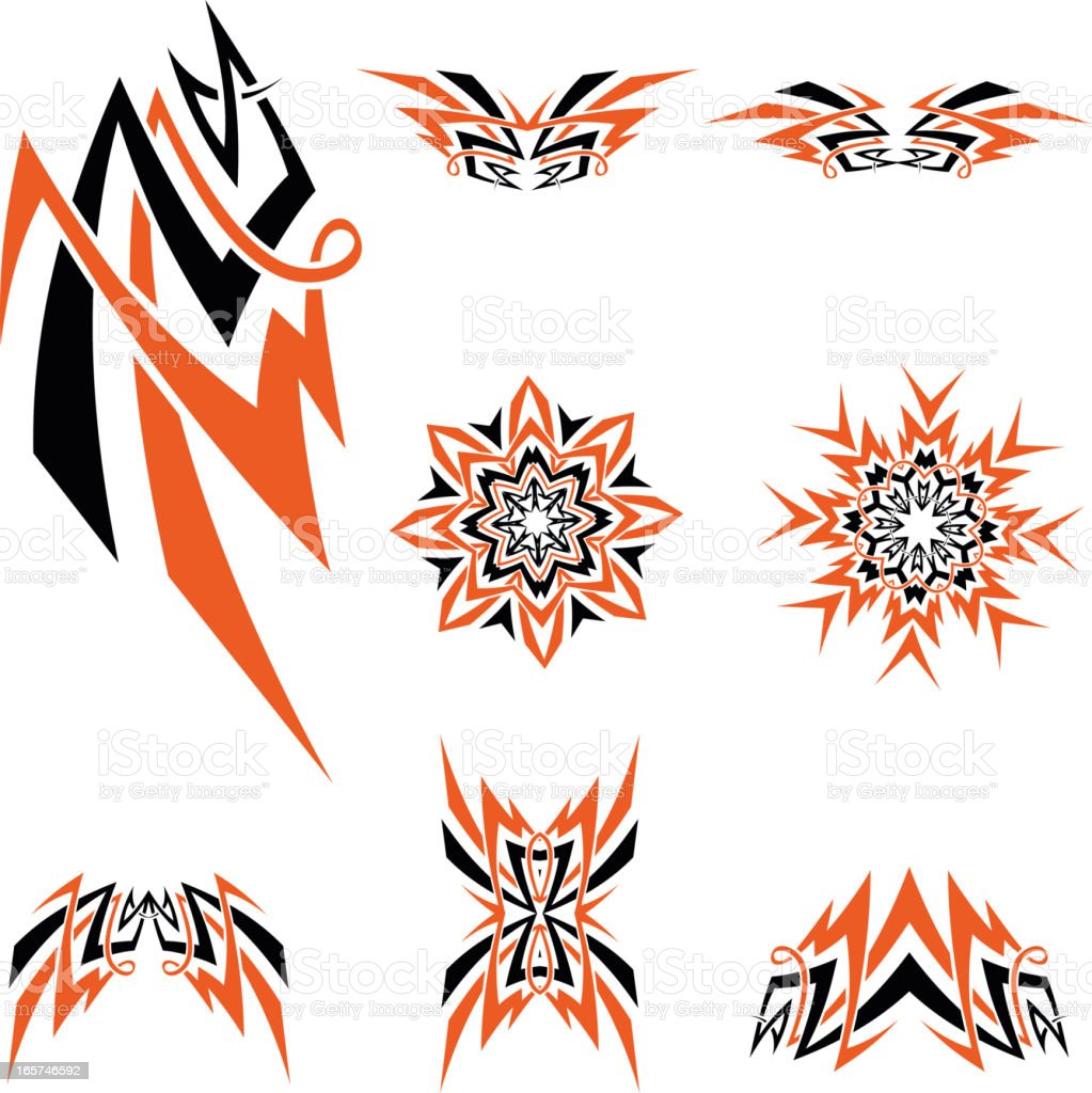 Celtic tribal knotworks set royalty-free stock vector art