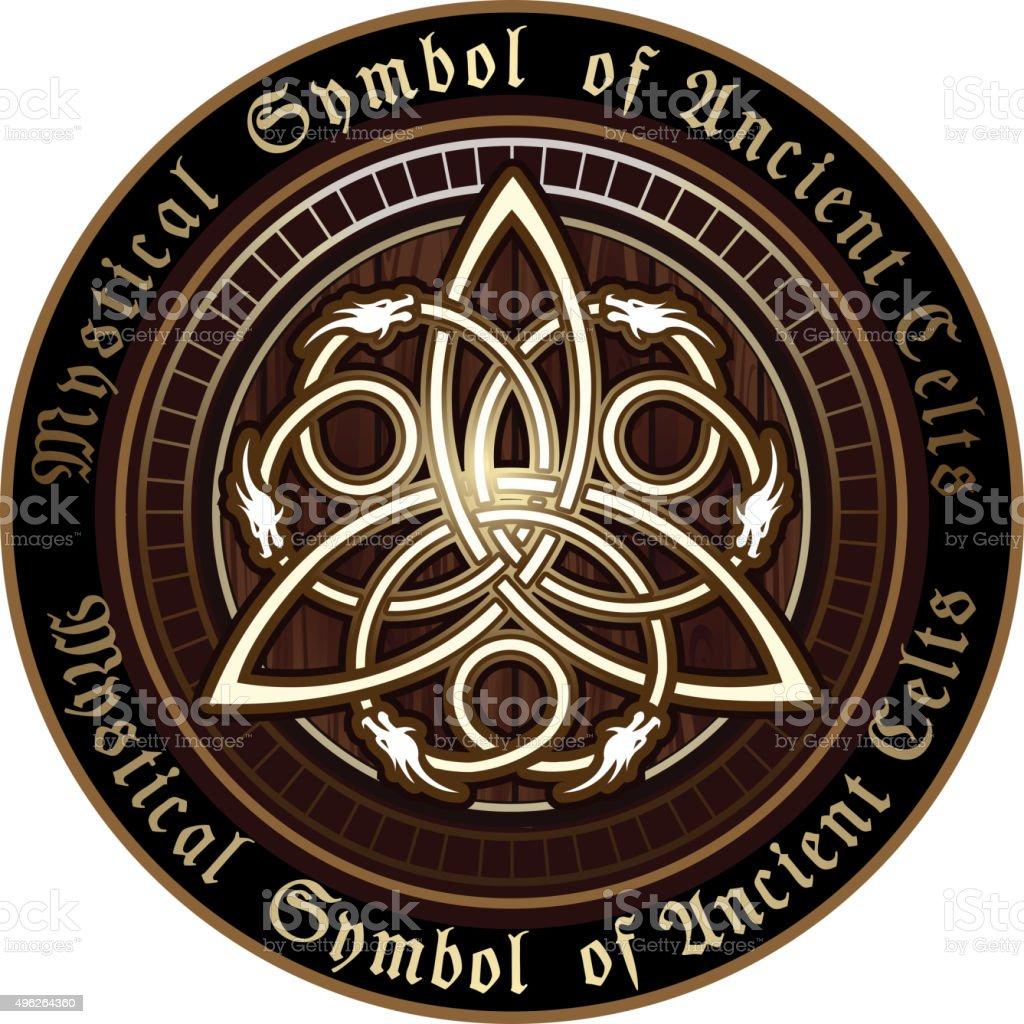Celtic Trinity Knot symbol vector art illustration