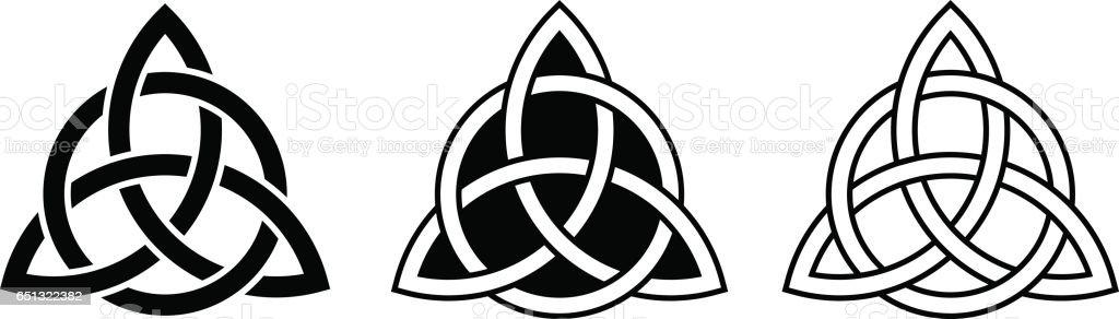 Celtic trinity knots. Vector illustration. vector art illustration