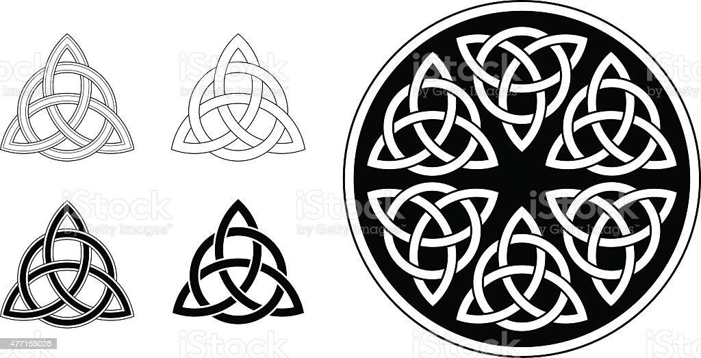 Celtic trinity ornament / triquetra (Infinity knot variation n° 2) vector art illustration