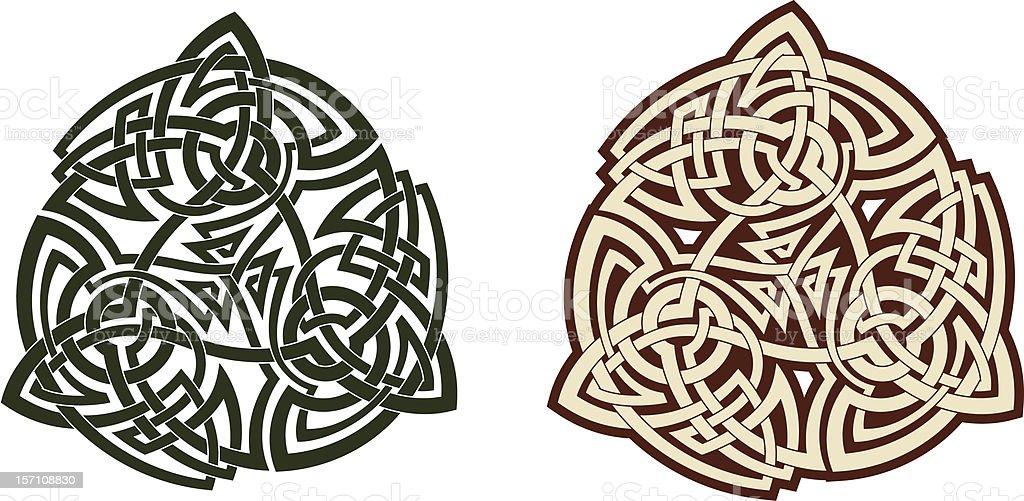 Celtic triskell royalty-free stock vector art