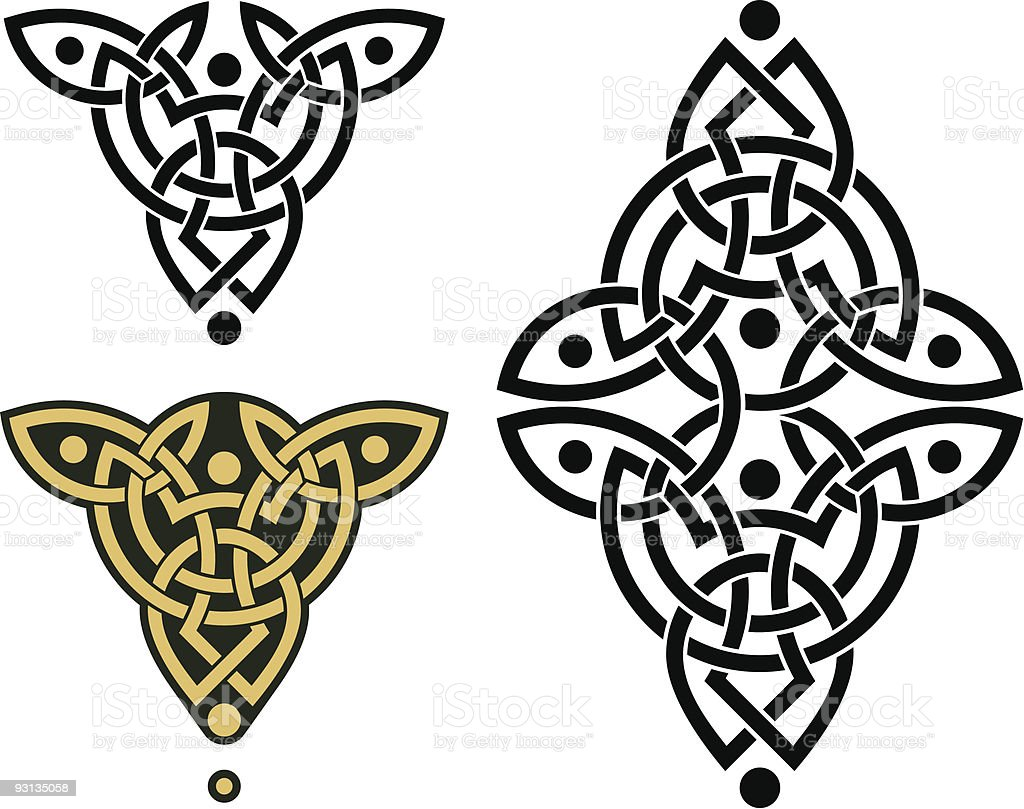 Celtic Weave Pattern vector art illustration