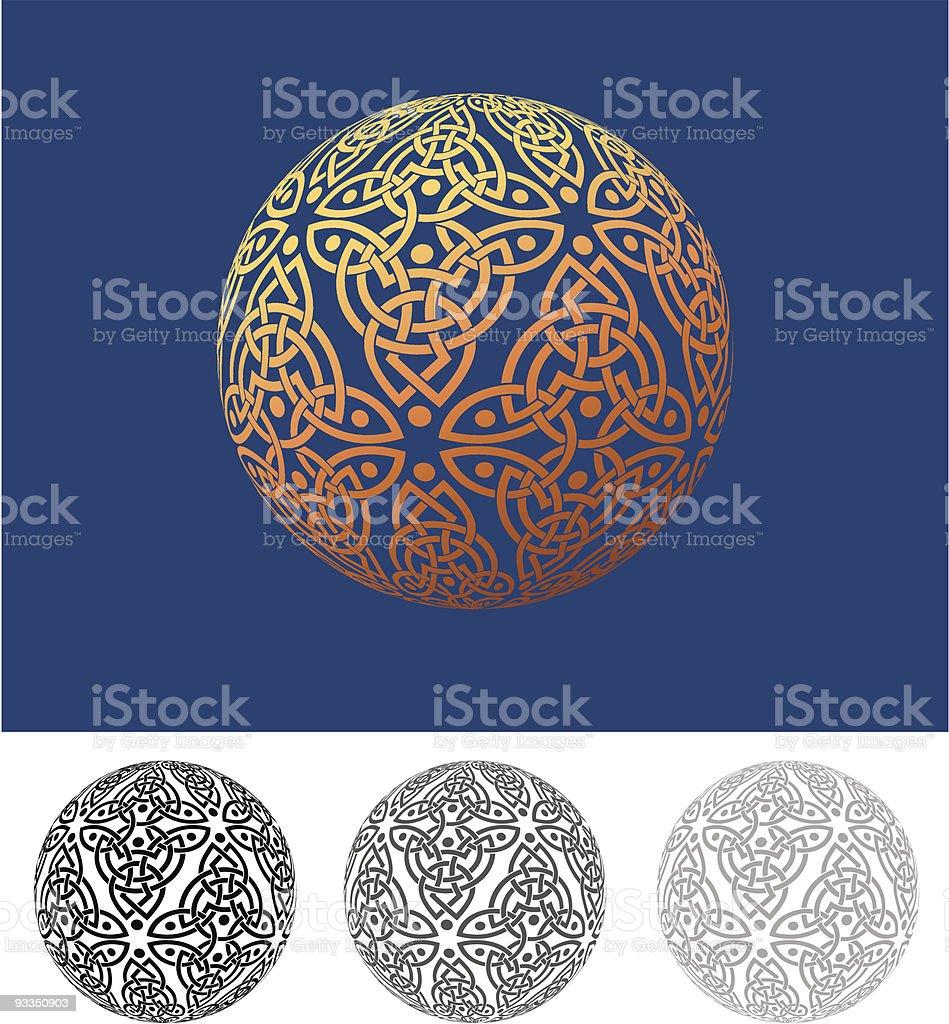 Celtic Weave Sphere royalty-free stock vector art
