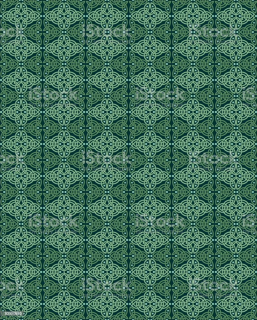 Celtic Weave Wallpaper Pattern royalty-free stock vector art