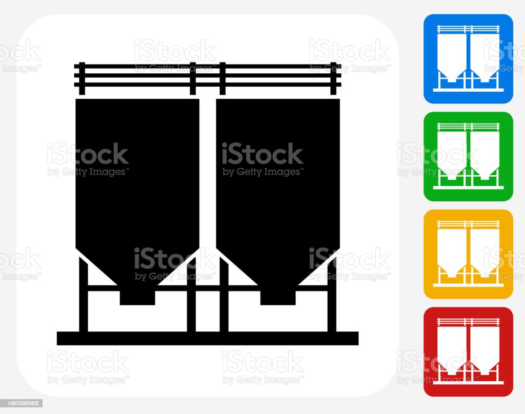 Cement Chamber Icon Flat Graphic Design vector art illustration