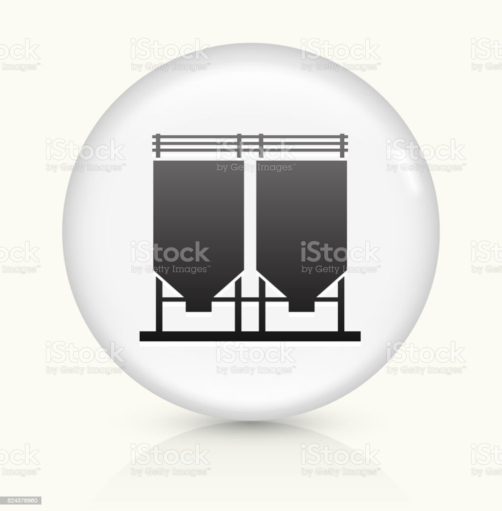 Cement Chamber icon on white round vector button vector art illustration
