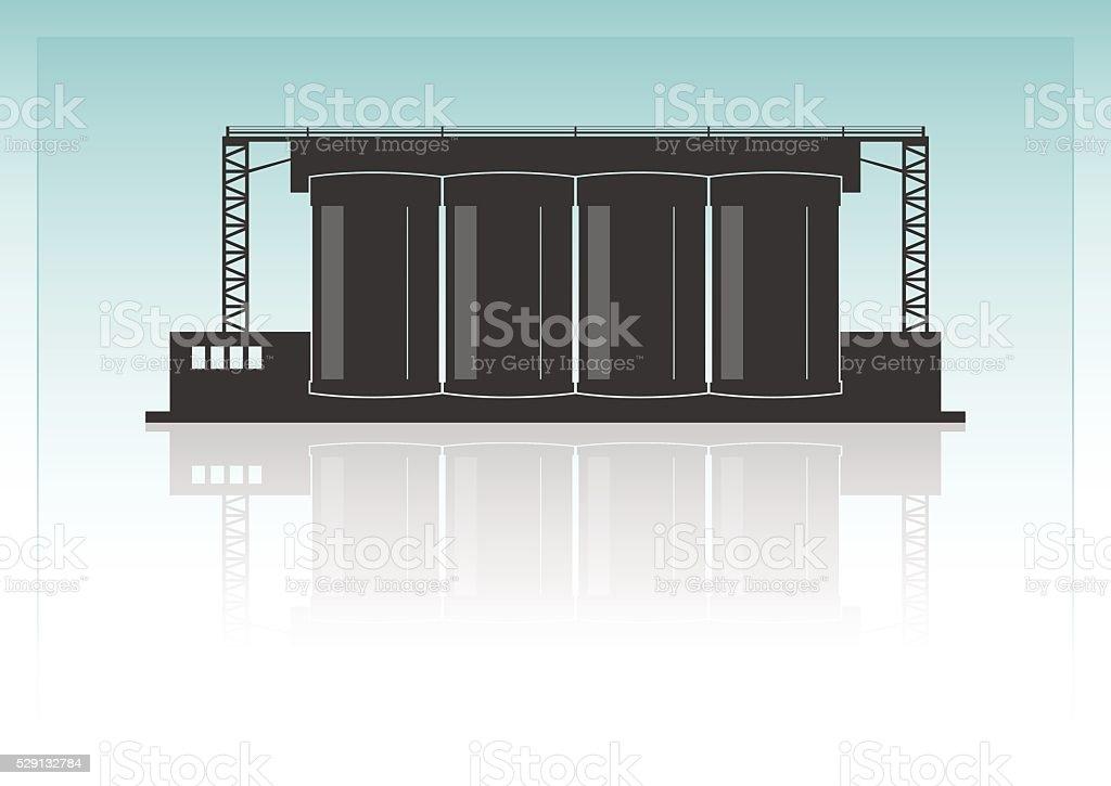 Cement factory vector art illustration