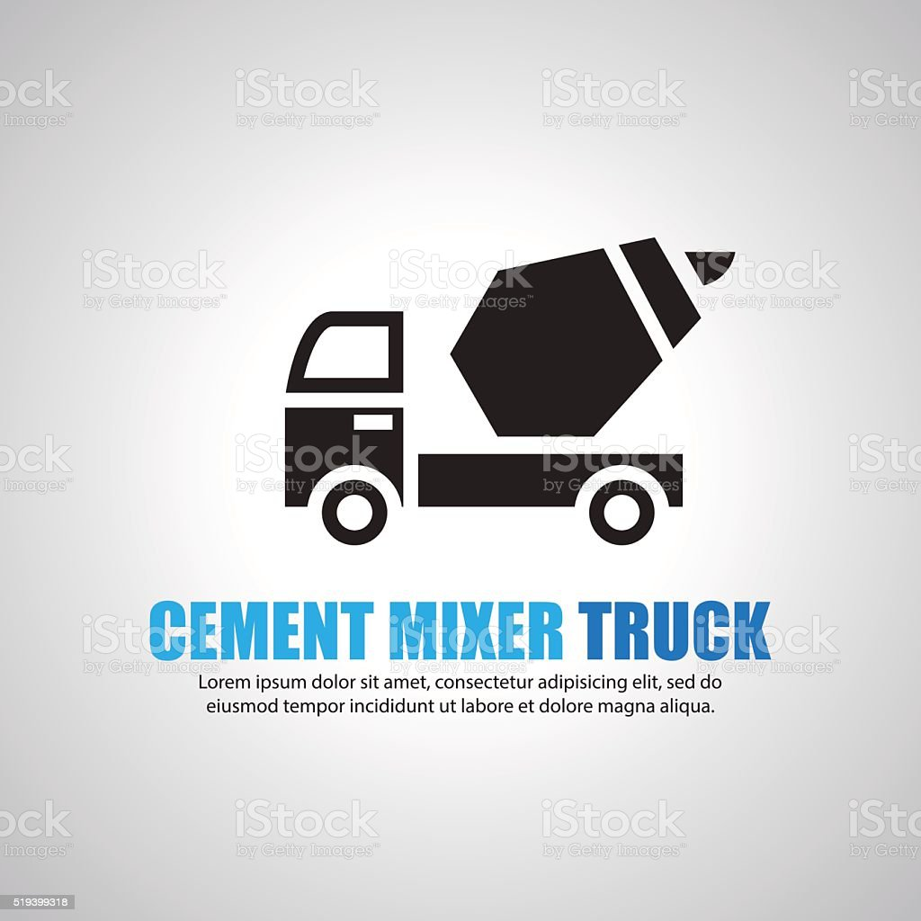 cement mixer truck, Symbol vector art illustration