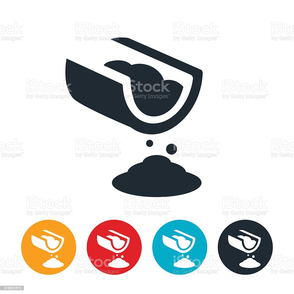 Cement Pour Icon vector art illustration