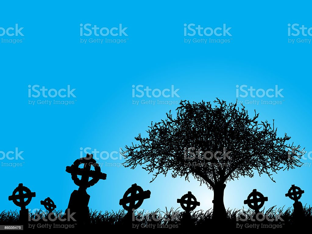 cemetery royalty-free stock vector art