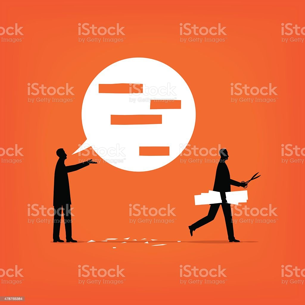 Censorship vector art illustration