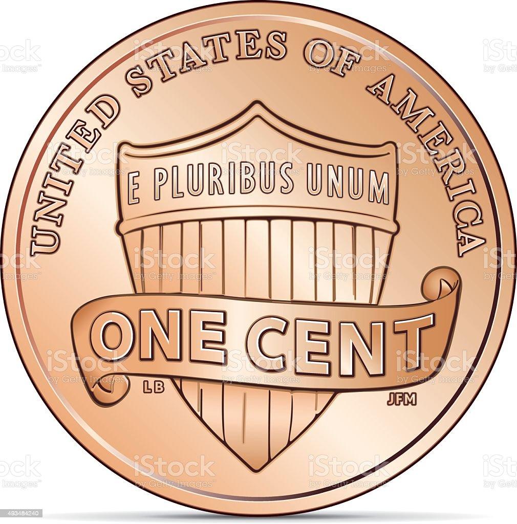 US Cent Coin vector art illustration