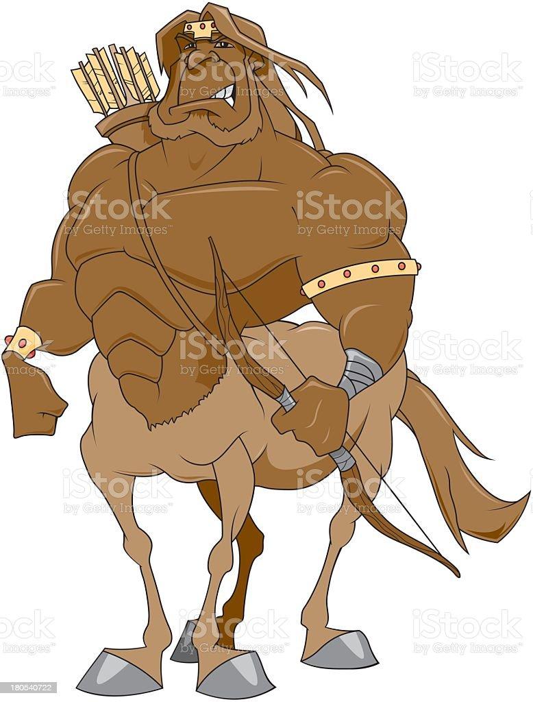 Centaur With Bow And Arrow royalty-free stock vector art