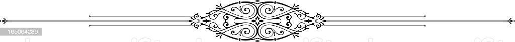Center Ruleline Scroll vector art illustration