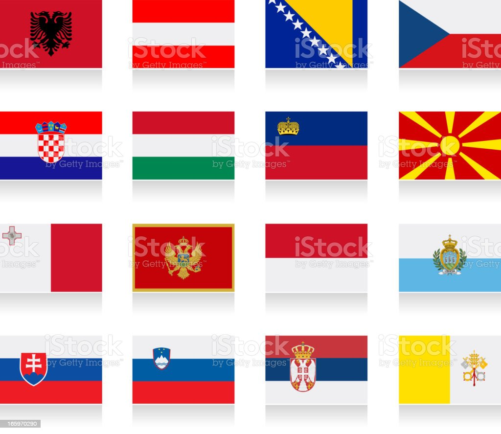 Central and South Europe royalty-free stock vector art