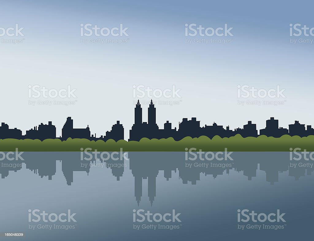 Central Park, NYC royalty-free stock vector art