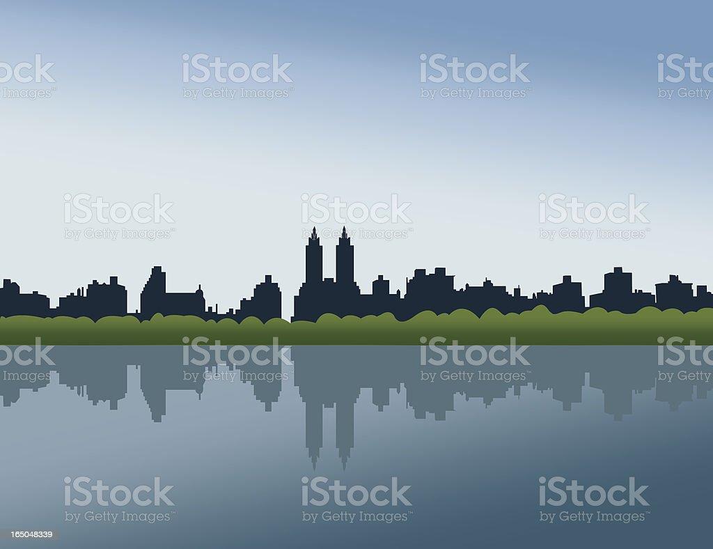 Central Park, NYC vector art illustration