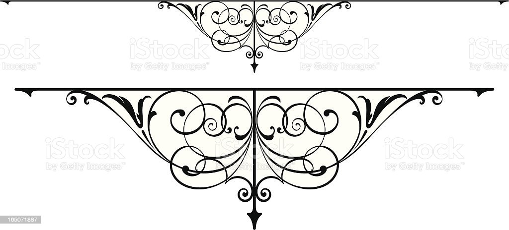 Centre Arrt Scroll royalty-free stock vector art