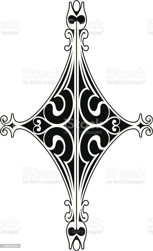 Centre Scroll Design royalty-free stock vector art