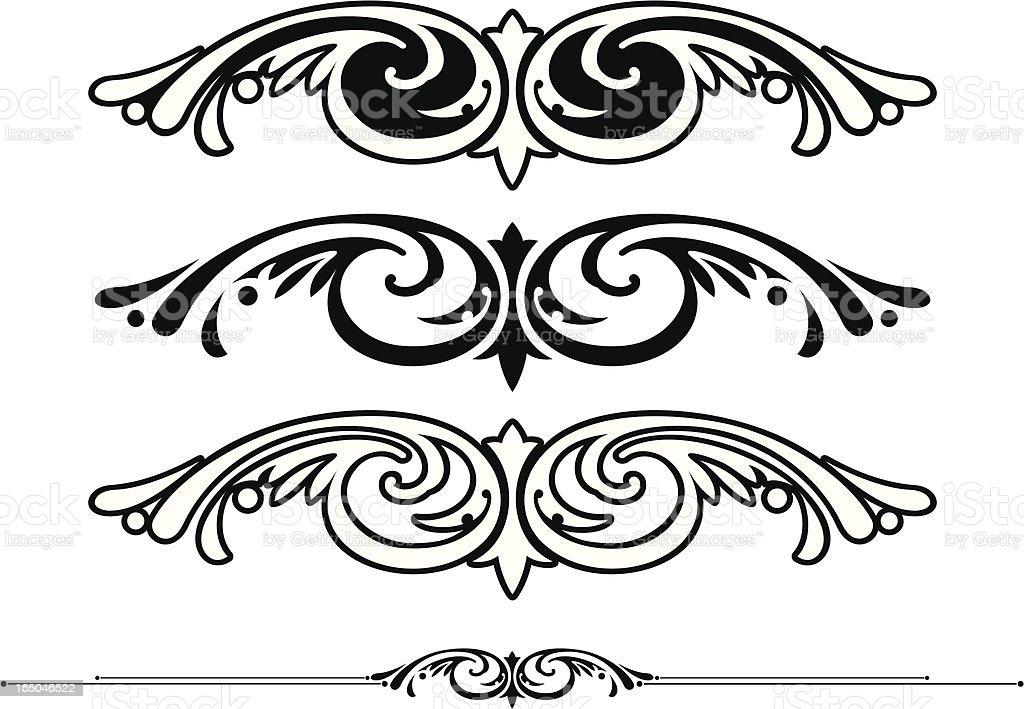 Centre Scrolls royalty-free stock vector art